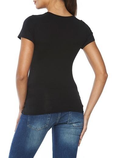 Modal Likralı Yuvarlak Yaka Bluz-Sevim